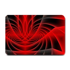 Red Abstract Art Background Digital Small Doormat