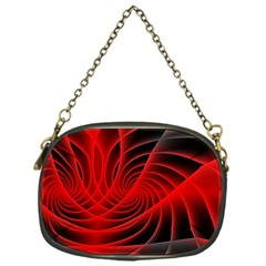 Red Abstract Art Background Digital Chain Purses (one Side)