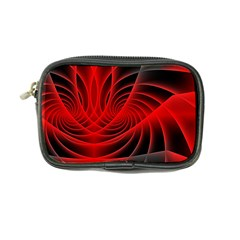 Red Abstract Art Background Digital Coin Purse
