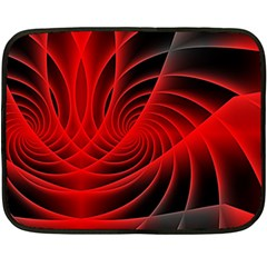 Red Abstract Art Background Digital Double Sided Fleece Blanket (mini)