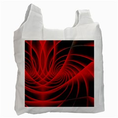 Red Abstract Art Background Digital Recycle Bag (two Side)