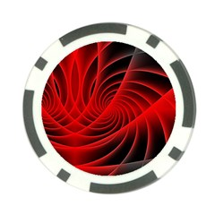 Red Abstract Art Background Digital Poker Chip Card Guard (10 Pack)