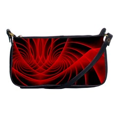 Red Abstract Art Background Digital Shoulder Clutch Bags