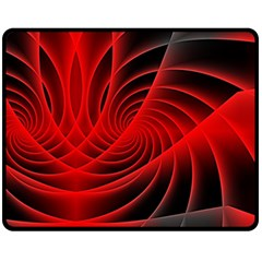 Red Abstract Art Background Digital Fleece Blanket (medium)