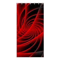 Red Abstract Art Background Digital Shower Curtain 36  X 72  (stall)