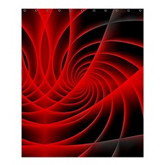 Red Abstract Art Background Digital Shower Curtain 60  X 72  (medium)