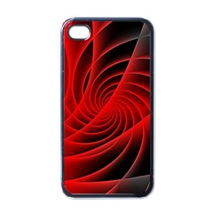 Red Abstract Art Background Digital Apple Iphone 4 Case (black)