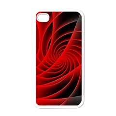 Red Abstract Art Background Digital Apple Iphone 4 Case (white)