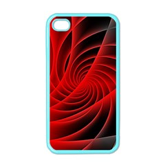 Red Abstract Art Background Digital Apple Iphone 4 Case (color)