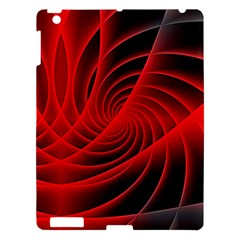 Red Abstract Art Background Digital Apple Ipad 3/4 Hardshell Case