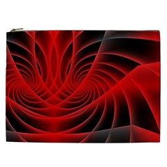 Red Abstract Art Background Digital Cosmetic Bag (xxl)