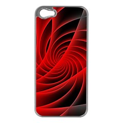 Red Abstract Art Background Digital Apple Iphone 5 Case (silver)