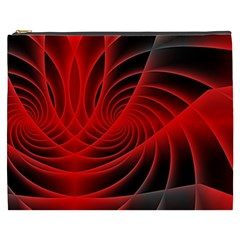 Red Abstract Art Background Digital Cosmetic Bag (xxxl)
