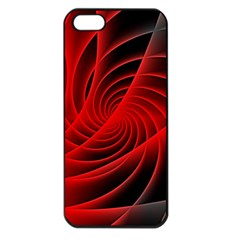 Red Abstract Art Background Digital Apple Iphone 5 Seamless Case (black)
