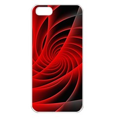 Red Abstract Art Background Digital Apple Iphone 5 Seamless Case (white)