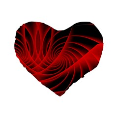 Red Abstract Art Background Digital Standard 16  Premium Heart Shape Cushions