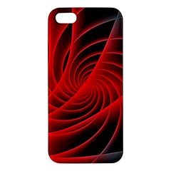 Red Abstract Art Background Digital Apple Iphone 5 Premium Hardshell Case