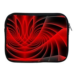 Red Abstract Art Background Digital Apple Ipad 2/3/4 Zipper Cases