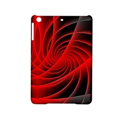 Red Abstract Art Background Digital Ipad Mini 2 Hardshell Cases
