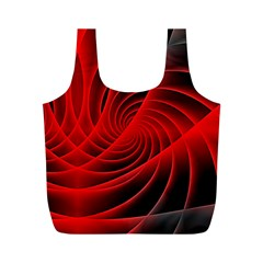 Red Abstract Art Background Digital Full Print Recycle Bags (m)