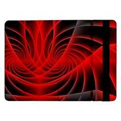 Red Abstract Art Background Digital Samsung Galaxy Tab Pro 12 2  Flip Case