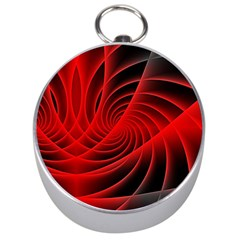 Red Abstract Art Background Digital Silver Compasses