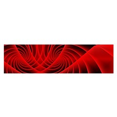 Red Abstract Art Background Digital Satin Scarf (oblong)