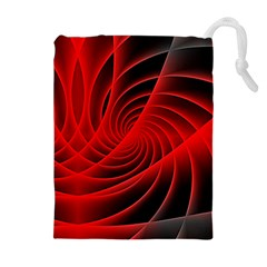 Red Abstract Art Background Digital Drawstring Pouches (extra Large)