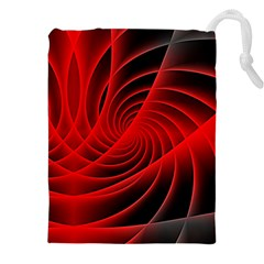 Red Abstract Art Background Digital Drawstring Pouches (xxl)