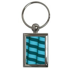 Curtain Stripped Blue Creative Key Chains (rectangle)