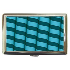 Curtain Stripped Blue Creative Cigarette Money Cases