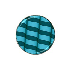 Curtain Stripped Blue Creative Hat Clip Ball Marker (10 Pack)