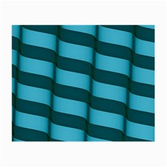 Curtain Stripped Blue Creative Small Glasses Cloth