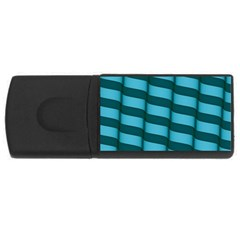 Curtain Stripped Blue Creative Rectangular Usb Flash Drive