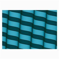 Curtain Stripped Blue Creative Large Glasses Cloth (2 Side)
