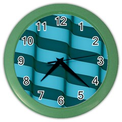Curtain Stripped Blue Creative Color Wall Clocks