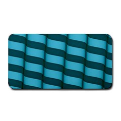 Curtain Stripped Blue Creative Medium Bar Mats
