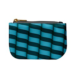 Curtain Stripped Blue Creative Mini Coin Purses