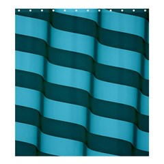 Curtain Stripped Blue Creative Shower Curtain 66  X 72  (large)