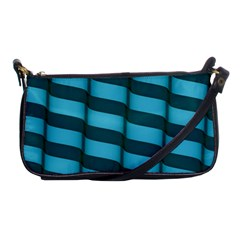 Curtain Stripped Blue Creative Shoulder Clutch Bags