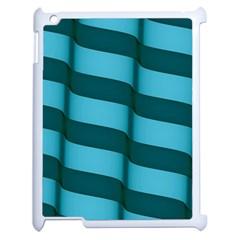 Curtain Stripped Blue Creative Apple Ipad 2 Case (white)