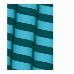 Curtain Stripped Blue Creative Small Garden Flag (two Sides)