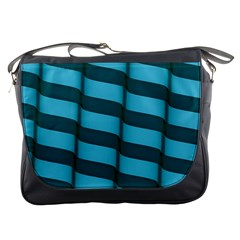 Curtain Stripped Blue Creative Messenger Bags