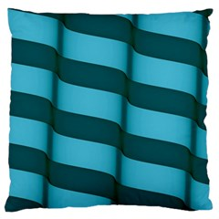 Curtain Stripped Blue Creative Large Cushion Case (two Sides)