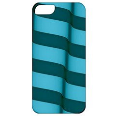 Curtain Stripped Blue Creative Apple Iphone 5 Classic Hardshell Case