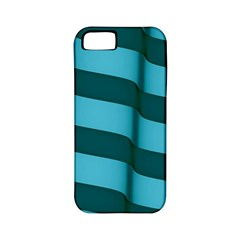 Curtain Stripped Blue Creative Apple Iphone 5 Classic Hardshell Case (pc+silicone)