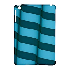 Curtain Stripped Blue Creative Apple Ipad Mini Hardshell Case (compatible With Smart Cover)