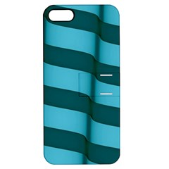 Curtain Stripped Blue Creative Apple Iphone 5 Hardshell Case With Stand