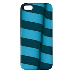 Curtain Stripped Blue Creative Apple Iphone 5 Premium Hardshell Case