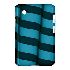 Curtain Stripped Blue Creative Samsung Galaxy Tab 2 (7 ) P3100 Hardshell Case